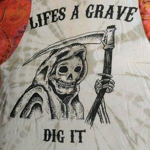 Vintage grim reaper shirt